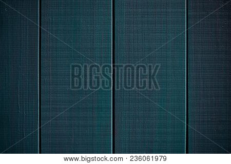 Dark Blue Wood Structure As A Background Texture Vignette.