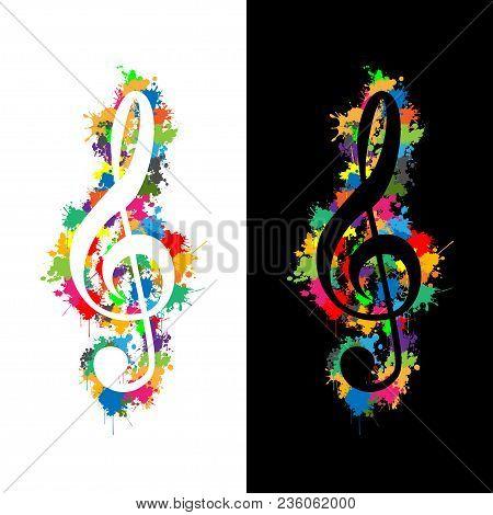 Illustration Violin Key As A Symbol Of Music.