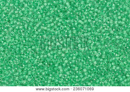 Green Glass Beads. Hi Res Photo. For Texrure