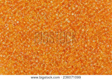 Bright Orange Glass Beads. Hi Res Texture.