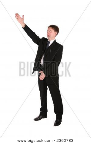 Businessmen Hand Up Isolated On White
