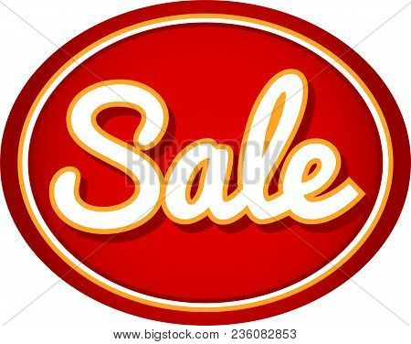 Sale Oval Advertisement Red Label Background Image
