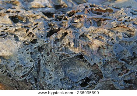 Background Stone. Grey, Black Or Gray Stone For Background. Beautiful Stone Structure Or Texture. De