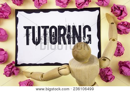Handwriting Text Tutoring. Concept Meaning Mentoring Teaching Instructing Preparing Supporting Give