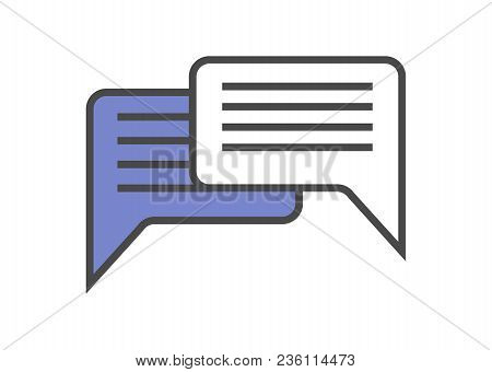 Speech Bubble Linear Icon. Dialog Window Isolated On White Background Illustration.