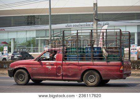 Private Old Pickup Car, Mitsubishi Strada.