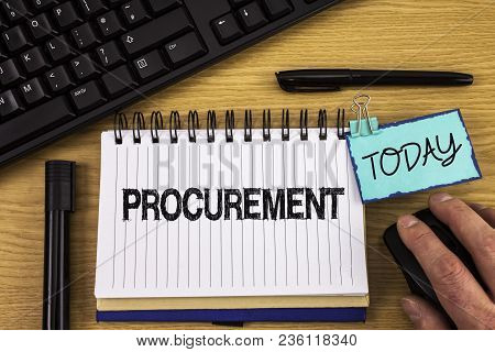 Text Sign Showing Procurement. Conceptual Photo Obtaining Procuring Something Purchase Of Equipment