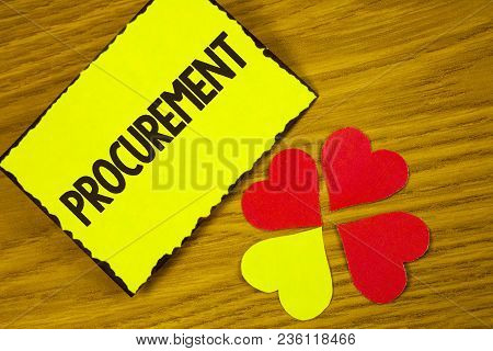 Conceptual Hand Writing Showing Procurement. Business Photo Text Obtaining Procuring Something Purch