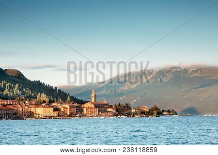 Landscape In Salò On Lake Garda In The Province Of Brescia, Lombardy - Italy.