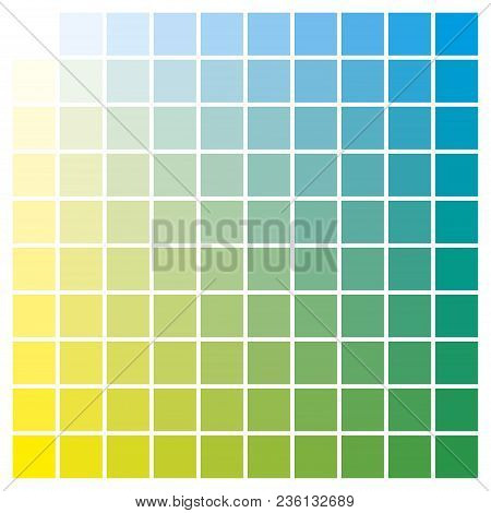 Color Chart Yellow Cyan Print Production Color Guide Ink Catalog