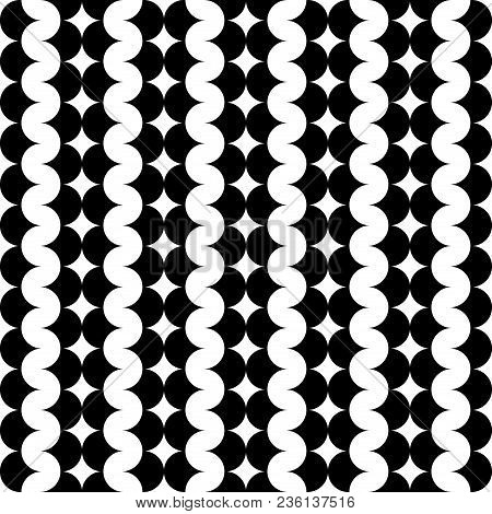 Modern Repeating Seamless Pattern Of Repeat Round Shapes. Stylish Texture. Geometric Background. Wav