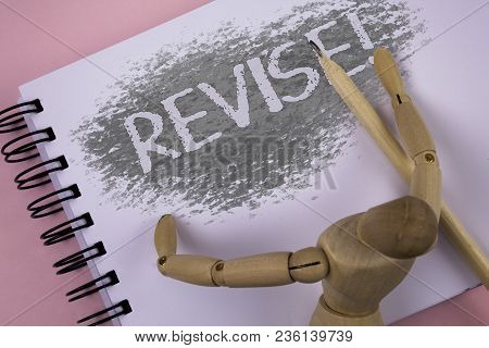 Conceptual Hand Writing Showing Revise Motivational Call. Business Photo Showcasing Reconsider Somet