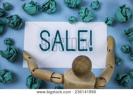 Conceptual Hand Writing Showing Sale Motivational Call. Business Photo Text Selling Goods At Reduced