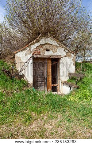 Old Dilapidated Wine Cellar In Lower Austria, Austria