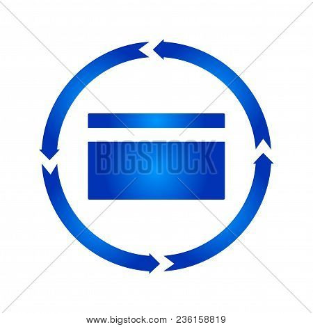 Credit Card Turn Icon. Vector Illustration. Flat Style