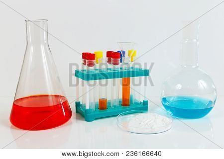 Equipment For Clinical Studies On A White Background