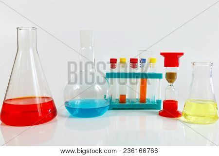 Equipment For Pharmaceutical Research On A White Background