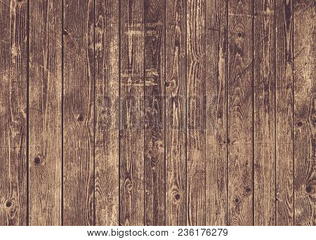 Natural Brown Barn Wood Wall. Wall Texture Background Pattern. Wood Planks, Boards Are Old With A Be