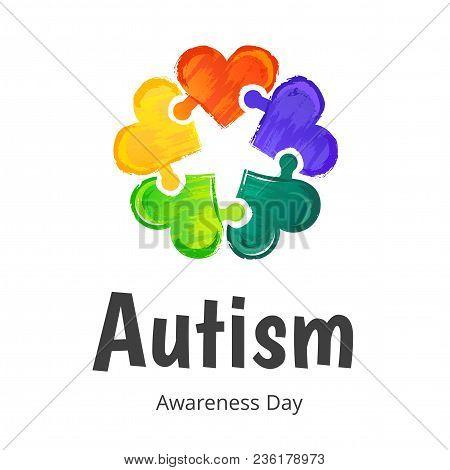 Autism Awareness Day. Illustration On White Background