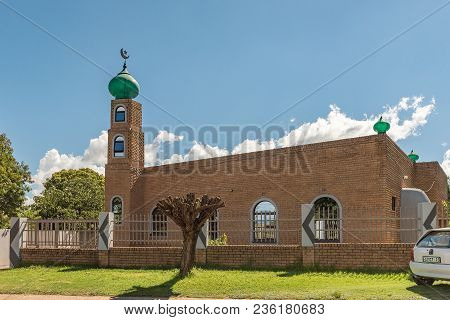 Fouriesburg, South Africa - March 12, 2018: A Mosque In Fouriesburg In The Free State Province Of So