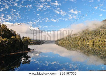 Beautiful Landscape Of Nahuel Huapi Lake At The Seven Lakes Road, Neuquen, Patagonia Argentina, With