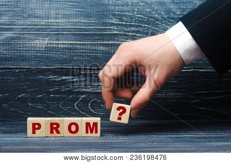 The Hand Stretches A Cube With The Question Mark Symbol To The Word Ind. The Concept Of Invitations