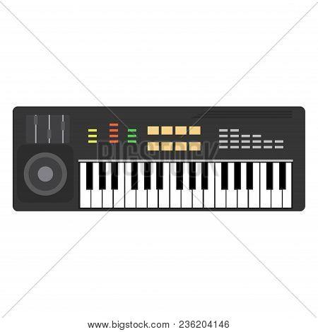 Music Piano Keyboard Vector. Background Musical Illustration Keys Jazz. Poster Concert Design Instru