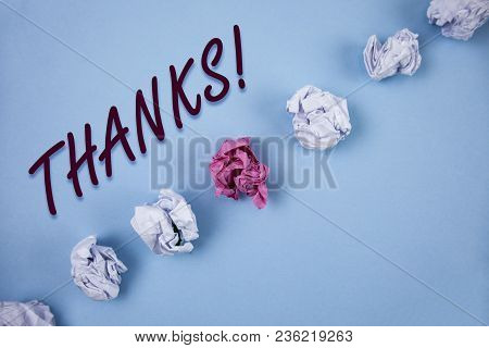 Handwriting Text Writing Thanks Motivational Call. Concept Meaning Appreciation Greeting Acknowledgm