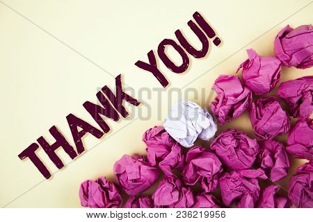 Text Sign Showing Thank You Motivational Call. Conceptual Photo Appreciation Greeting Acknowledgment