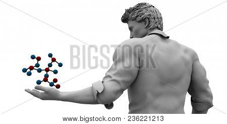 Biotechnology or Biotech Science as a Science Field 3D Render