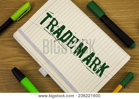 Text Sign Showing Trademark. Conceptual Photo Legally Registered Copyright Intellectual Property Pro