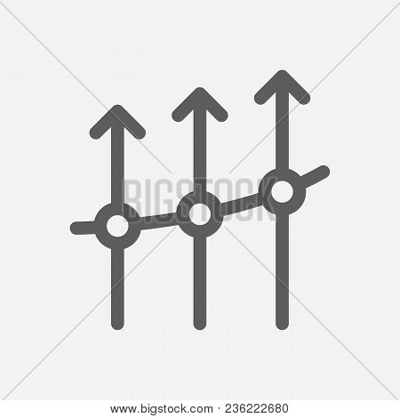 Business Progress Icon Line Symbol. Isolated Vector Illustration Of  Icon Sign Concept For Your Web