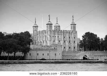 Historical building London Tower as the famous landmark in UK