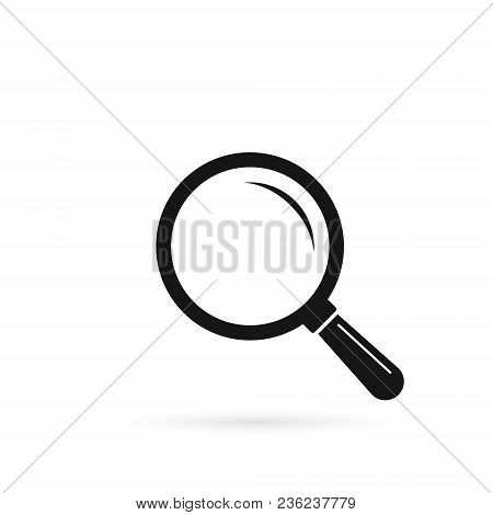 Magnifying Glass Icon, Vector Magnifier Or Loupe Sign. Flat Isolated Illustration.