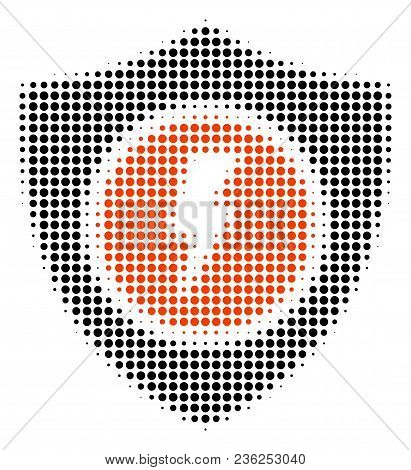 Electric Guard Halftone Vector Icon. Illustration Style Is Dotted Iconic Electric Guard Icon Symbol