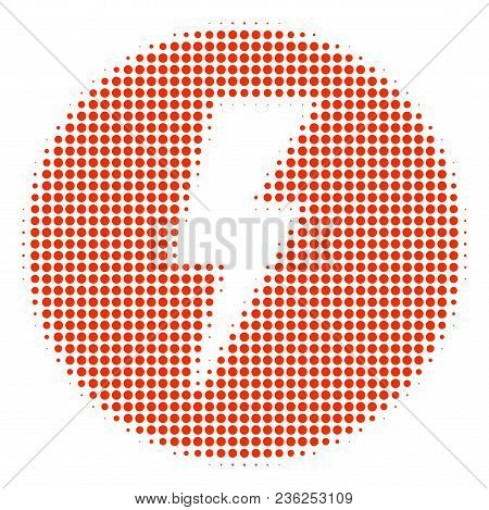 Electricity Halftone Vector Icon. Illustration Style Is Dotted Iconic Electricity Icon Symbol On A W