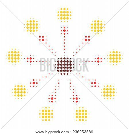 Expanse Halftone Vector Pictogram. Illustration Style Is Dotted Iconic Expanse Icon Symbol On A Whit