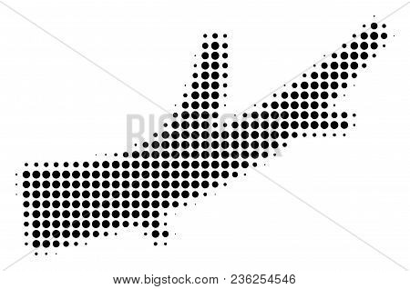 Firewood Halftone Vector Icon. Illustration Style Is Dotted Iconic Firewood Icon Symbol On A White B