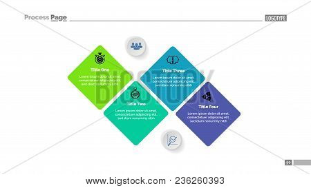 Sequence Of Four Stages Diagram Template. Business Data. Graph, Chart, Design. Creative Concept For