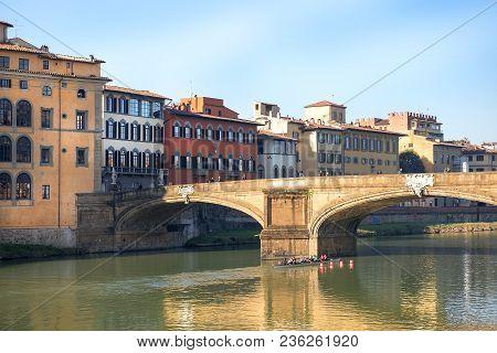 Renaissance Bridge - Ponte Santa Trinita By Florentine Architect Bartolomeo Ammannati Over The Arno