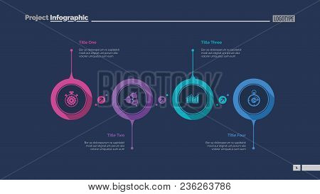 Four Aspects Flowchart Slide Template. Business Data. Graph, Diagram. Creative Concept For Infograph