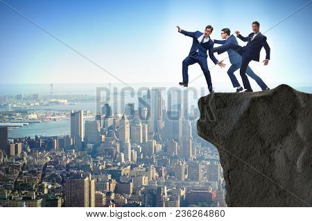 Business unethical competition concept with businessmen