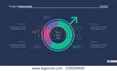 Pie Chart Of Population Slide Template. Business Data. Graph, Diagram, Design. Creative Concept For