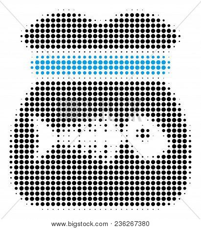 Toxic Rubbish Halftone Vector Icon. Illustration Style Is Dotted Iconic Toxic Rubbish Icon Symbol On