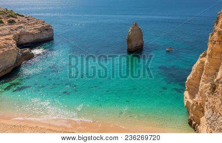 Praia do Carvalho beach, Algarve Portugal