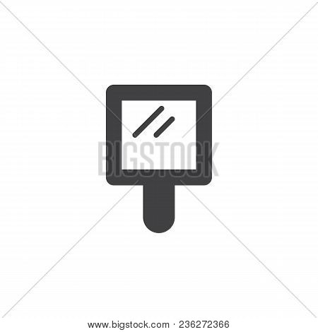Handle Mirror Vector Icon. Filled Flat Sign For Mobile Concept And Web Design. Simple Solid Icon. Sy