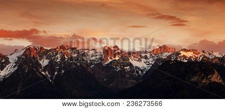 Alpine landscape of the Swiss Alps