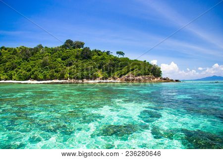 Green Pinnacle Idyllic Seascape