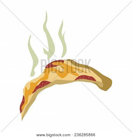 Outdated Smelly Pizza, Recycling Garbage Concept, Utilize Waste Vector Illustration Isolated On A Wh