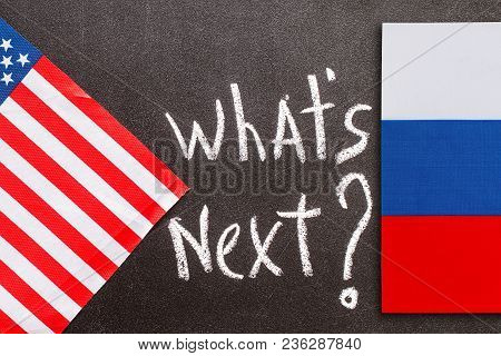 What's Next On The Chalk Board With American And Russian Fla